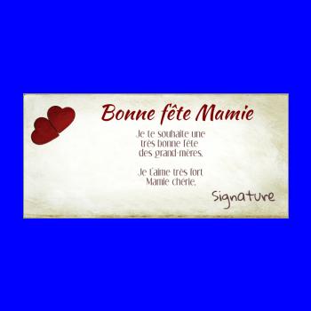 carte grand mere fete coeur jaune rouge