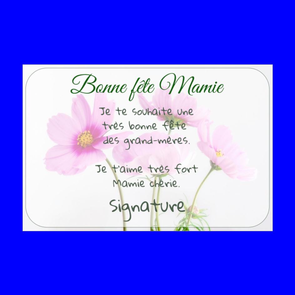 Carte Grand Mere Fete Fleur Rose Gratuit A Imprimer Carte 1546