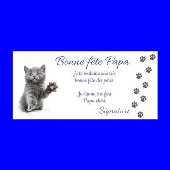 carte papa fete chat gris animaux