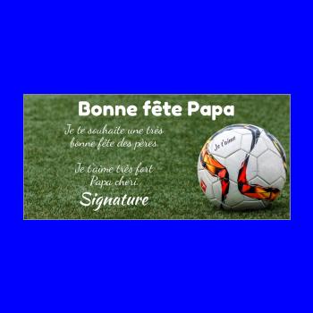 carte papa fete football sport vert