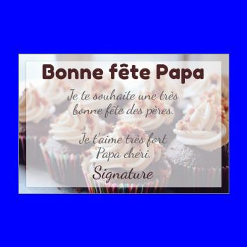 carte papa fete gateau chocolat