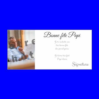 carte grand pere fete blanc elegant