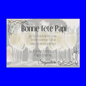 carte grand pere champagne fete elegant alcool