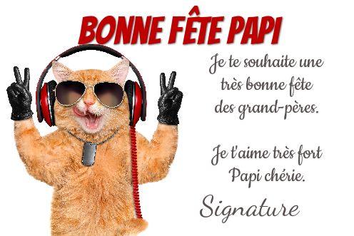 Carte Grand Pere Humour Fete Chat Gratuit à Imprimer Carte