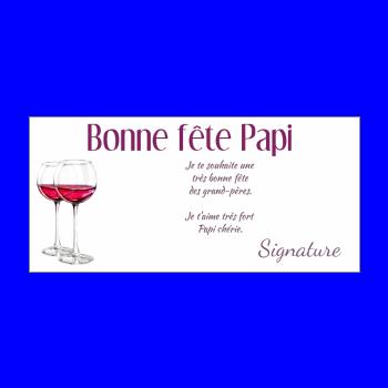 carte grand pere fete vin mauve rouge alcool