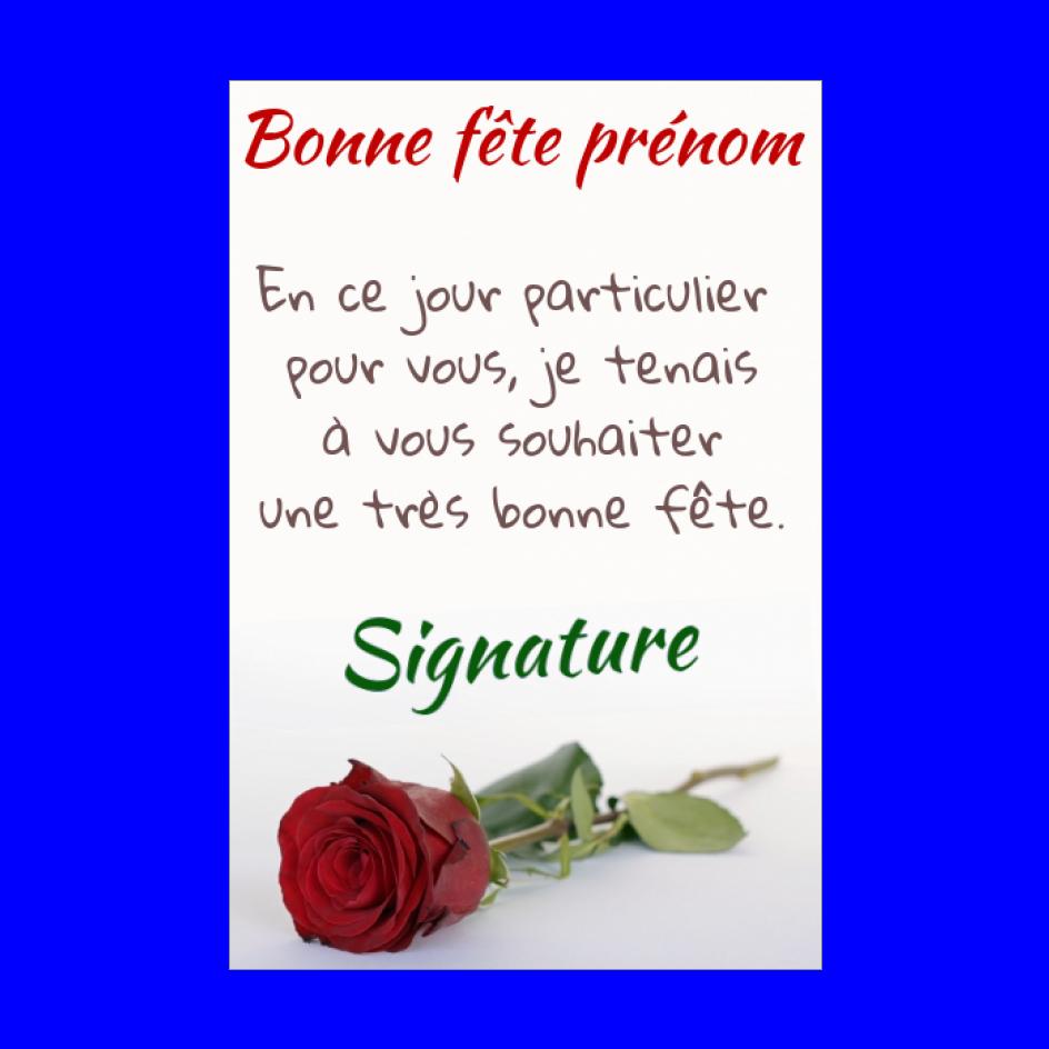 Carte Voeux Fete Fleur Rose Rouge Gratuit A Imprimer Carte 1642