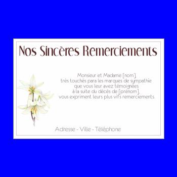 Message remerciement apres enterrement