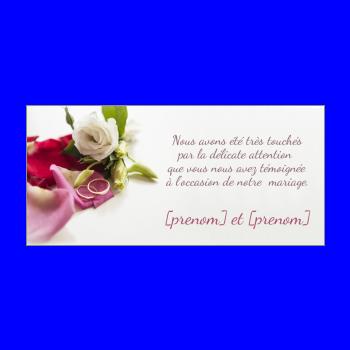 Carte De Remerciement Pour Un Mariage A Imprimer Gratuit
