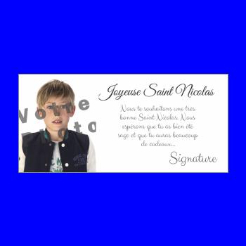 carte voeux joyeux saint nicolas blanc