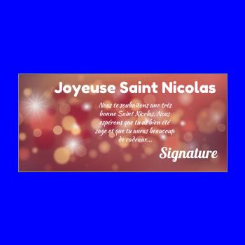 carte voeux joyeux saint nicolas etoile orange