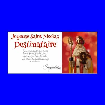 carte voeux joyeux saint nicolas rouge