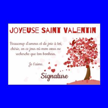 Carte de Saint Valentin à imprimer gratuit