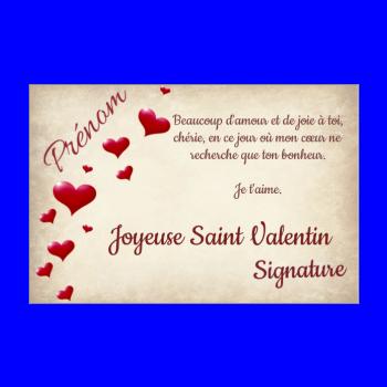Carte De Saint Valentin A Imprimer Gratuit