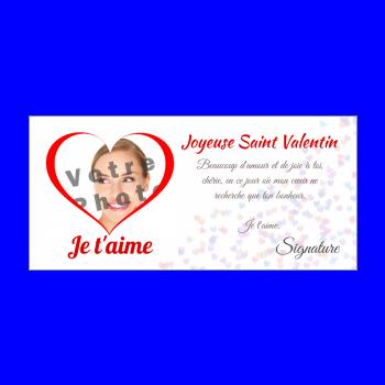 carte voeux saint valentin coeur rouge