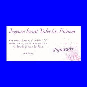 carte voeux saint valentin coeur mauve