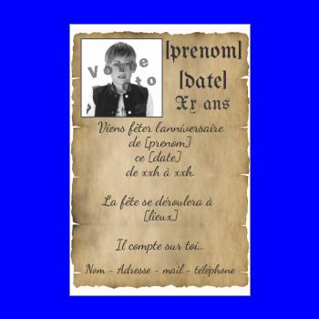 carte invitation anniversaire enfant pirate