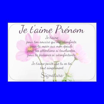 carte voeux fleur amour rose