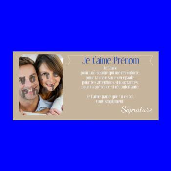 carte voeux amour marron