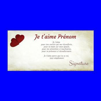 carte voeux coeur amour jaune rouge