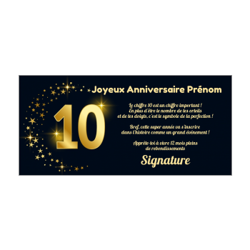 Carte Joyeux Anniversaire 10 Ans Jaune Gratuit A Imprimer Carte 2049