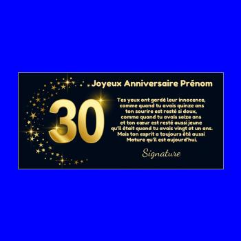 Carte D Anniversaire 30 Ans A Imprimer Ou Envoyer Gratuit
