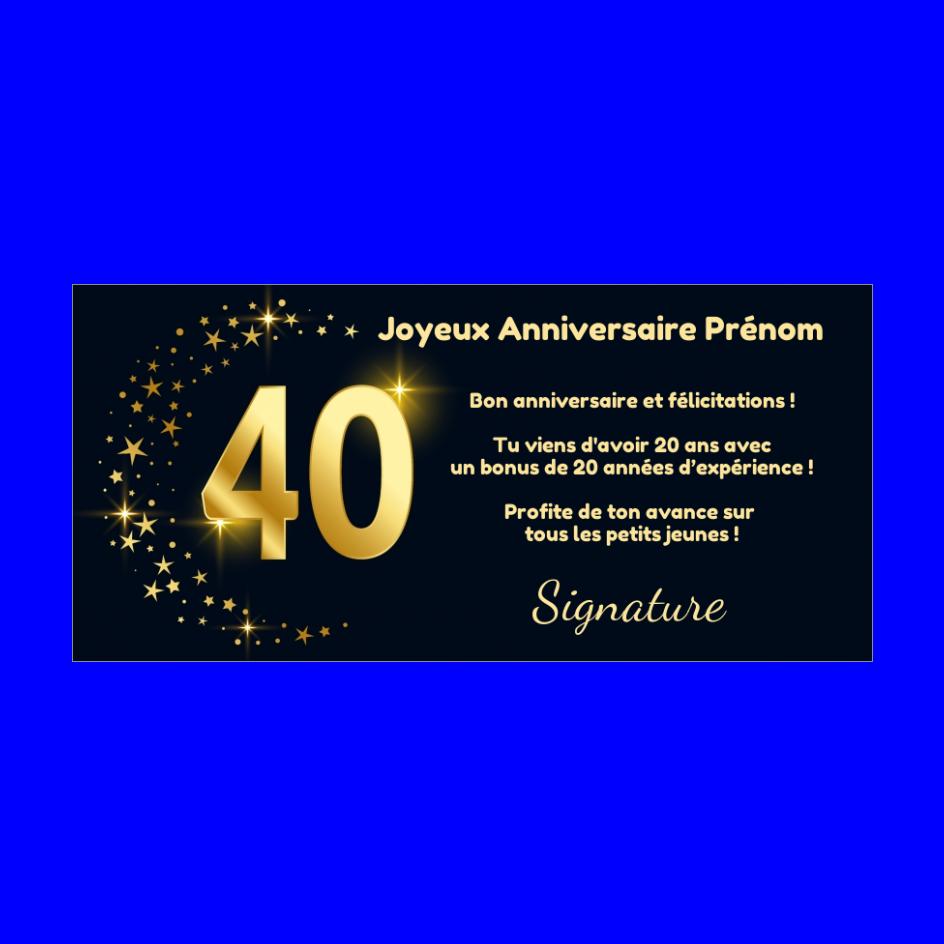 Carte Joyeux Anniversaire 40 Ans Doree Gratuit A Imprimer Carte 3457