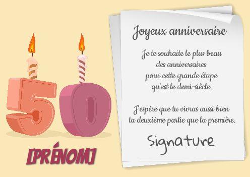 Carte Joyeux Anniversaire 50 Ans Bougie Gratuit A Imprimer Carte 3471