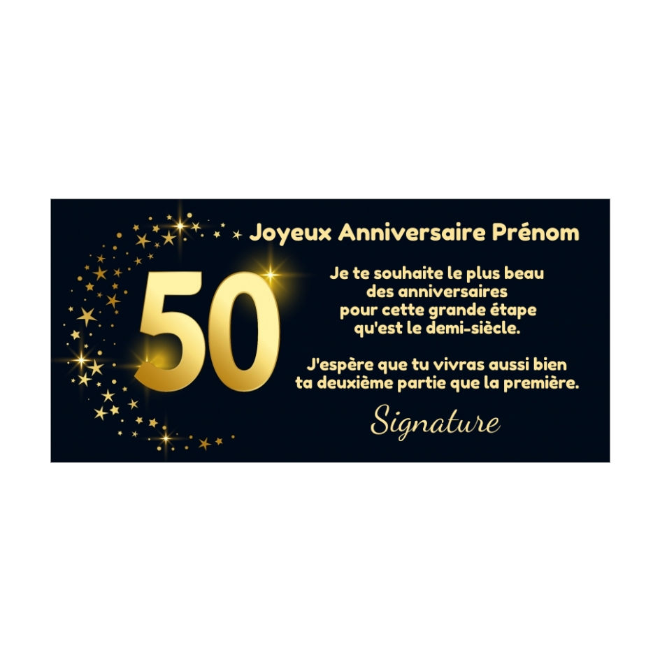 Carte Joyeux Anniversaire 50 Ans Doree Gratuit A Imprimer Carte 3459
