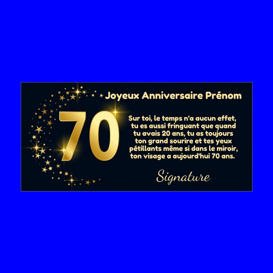 Carte Joyeux Anniversaire 70 Ans Doree Gratuit A Imprimer Carte 3461