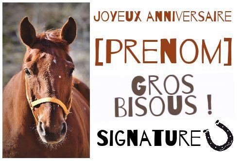 Carte Joyeux Anniversaire Cheval Enfant Marron Gratuit A Imprimer Carte 3092