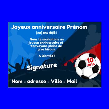 Carte Joyeux Anniversaire Football Enfant Sport Gratuit A Imprimer Carte 238