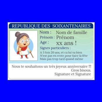 Carte Anniversaire Carte Identite Humour Garcon Avec Photo A Imprimer Carte 3254