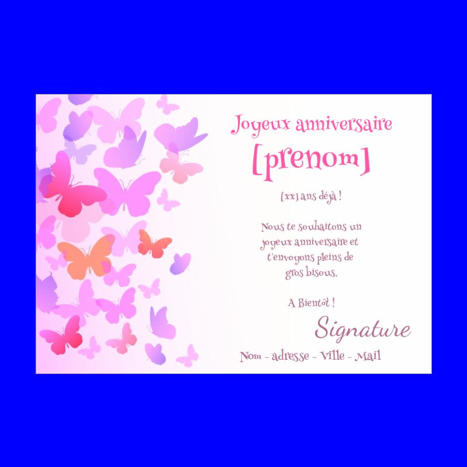 Carte Joyeux Anniversaire Enfant Rose Fille Gratuit A Imprimer Carte 3096