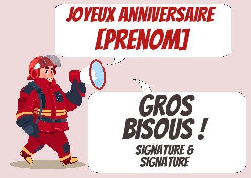 Carte Joyeux Anniversaire Pompier Enfant Rouge Gratuit A Imprimer Carte 3565