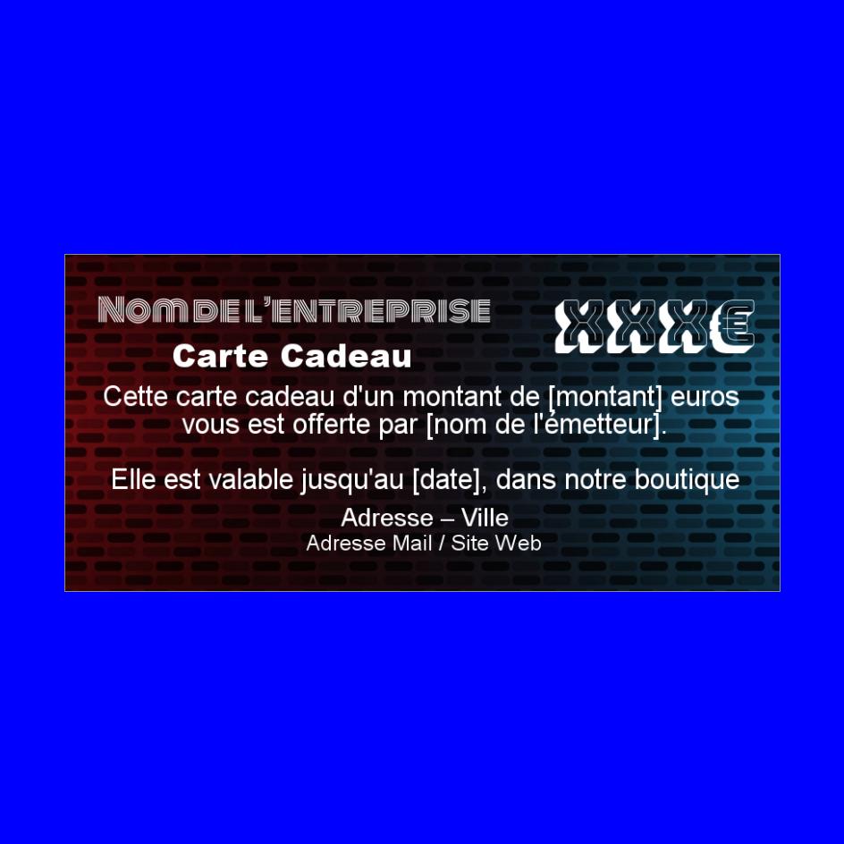 Carte Cadeau Bleu Rouge Gratuit A Imprimer Carte 3732