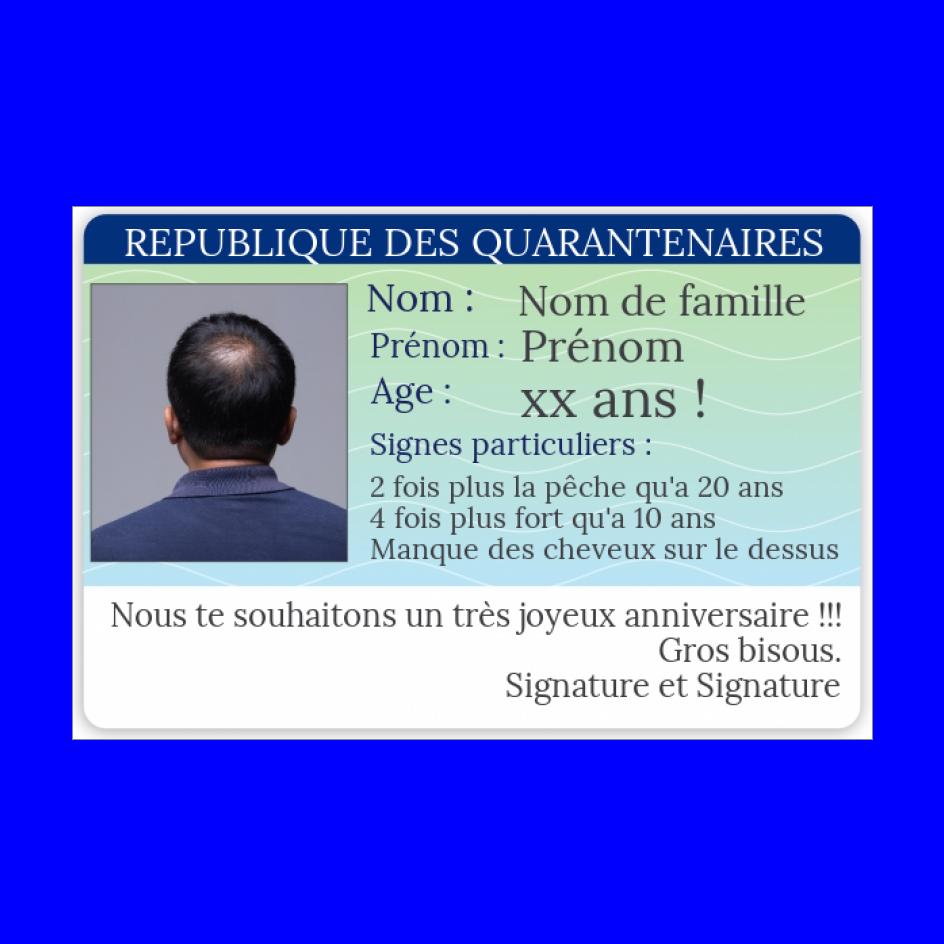 Carte Anniversaire Carte Identite 40 Ans Gratuit A Imprimer Carte 3283