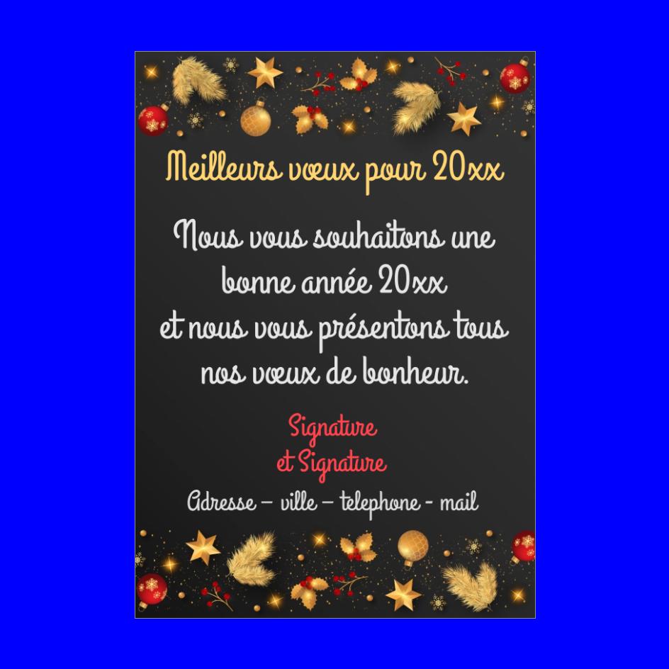 Carte Voeux Meilleur Nouvel An Doree Gratuit A Imprimer Carte 3503