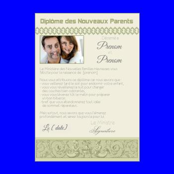 diplome naissance vert parents