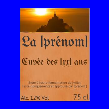 etiquette bouteille biere marron alcool