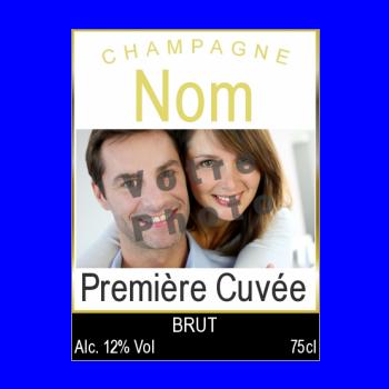 etiquette bouteille mariage champagne alcool
