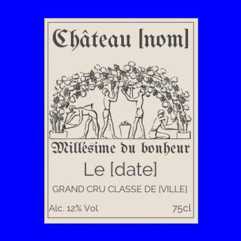 etiquette bouteille vin marron alcool