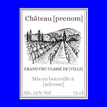 etiquette bouteille vin mauve chateau alcool