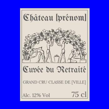 Dessin A Imprimer Bouteille De Vin Étiquette de bouteille pour un départ à la retraite à imprimer gratuite