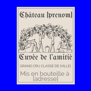 Etiquette Vin Vierge à Imprimer