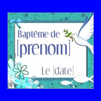 étiquette De Dragée De Baptême à Imprimer Gratuit