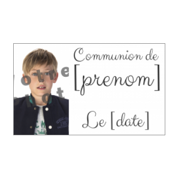 etiquette cadeau communion blanc