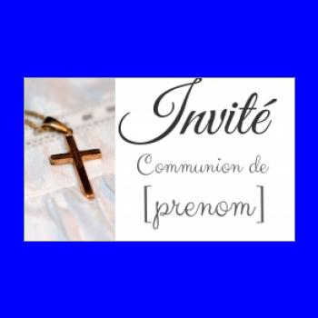 etiquette cadeau communion blanc croix