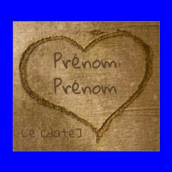 etiquette mariage cadeau coeur bois arbre marron