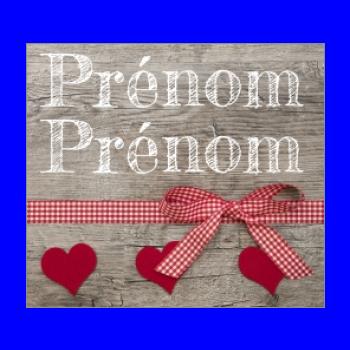 etiquette mariage cadeau coeur bois rouge ruban