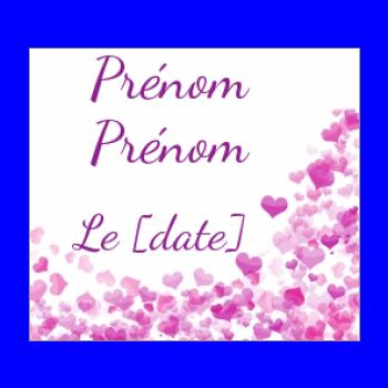 etiquette mariage cadeau coeur rose mauve